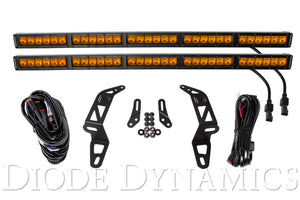 Jeep 2018 SS30 Bumper LED Kit Amber Driving Dual Diode Dynamics