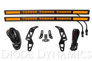 Jeep 2018 SS30 Bumper LED Kit Amber Combo Dual Diode Dynamics
