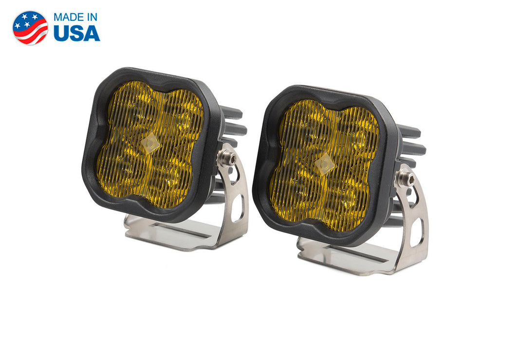 Worklight SS3 Pro Yellow SAE Fog Standard Pair Diode Dynamics
