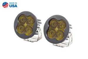Worklight SS3 Sport Yellow SAE Fog Round Pair Diode Dynamics