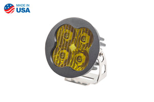 Worklight SS3 Pro Yellow Driving Round Single Diode Dynamics