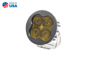 Worklight SS3 Pro Yellow SAE Fog Round Single Diode Dynamics