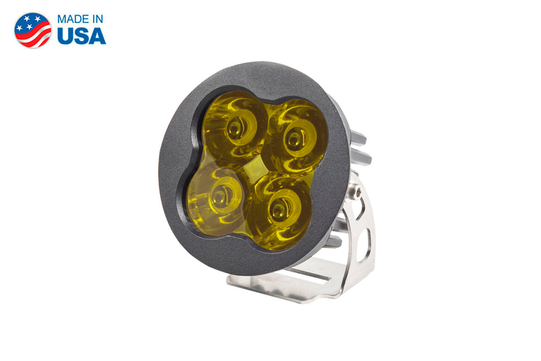 Worklight SS3 Pro Yellow Spot Round Single Diode Dynamics