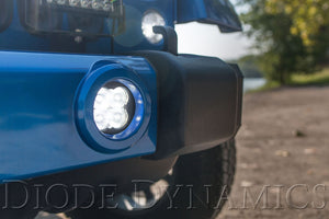 SS3 LED Fog Light Kit for 2007-2018 Jeep JK Wrangler White SAE/DOT Driving Sport Diode Dynamics