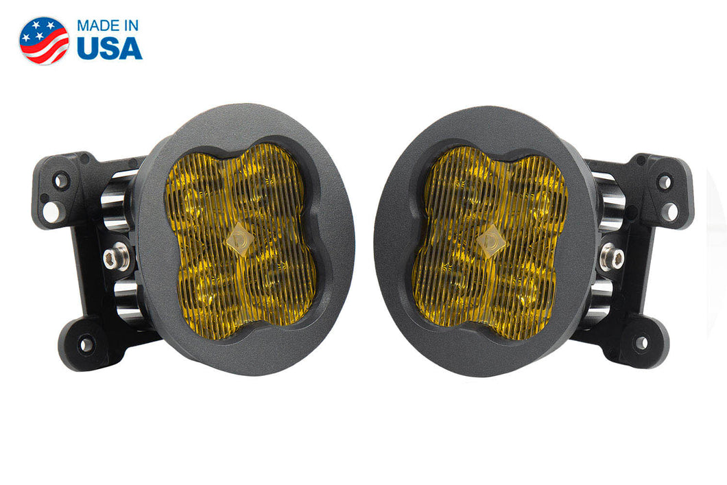 SS3 LED Fog Light Kit for 2007-2018 Jeep JK Wrangler Yellow SAE/DOT Fog Sport Diode Dynamics