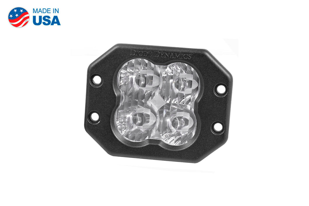 Worklight SS3 Pro White SAE Driving Flush Single Diode Dynamics