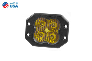 Worklight SS3 Pro Yellow Driving Flush Single Diode Dynamics