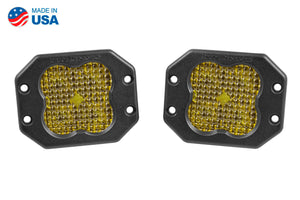 Worklight SS3 Pro Yellow Flood Flush Pair Diode Dynamics