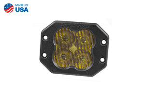 Worklight SS3 Pro Yellow SAE Fog Flush Single Diode Dynamics