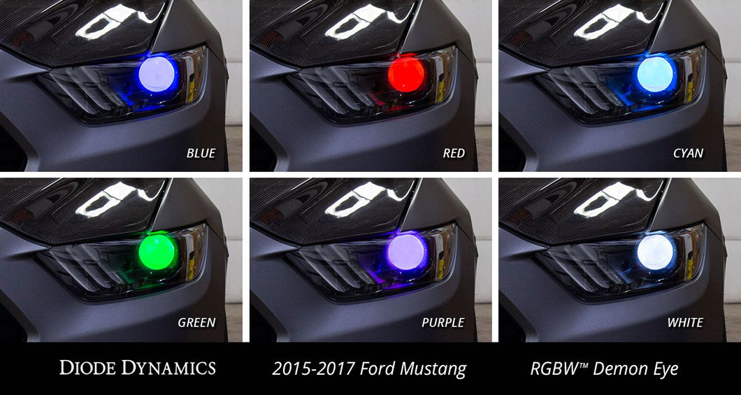 Multicolor Demon Eye Kit for 2015-2017 Ford Mustang Diode Dynamics