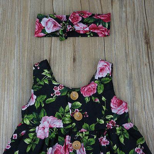 Black Floral Delilah Dress