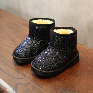 Glitter Plush Winter Boots