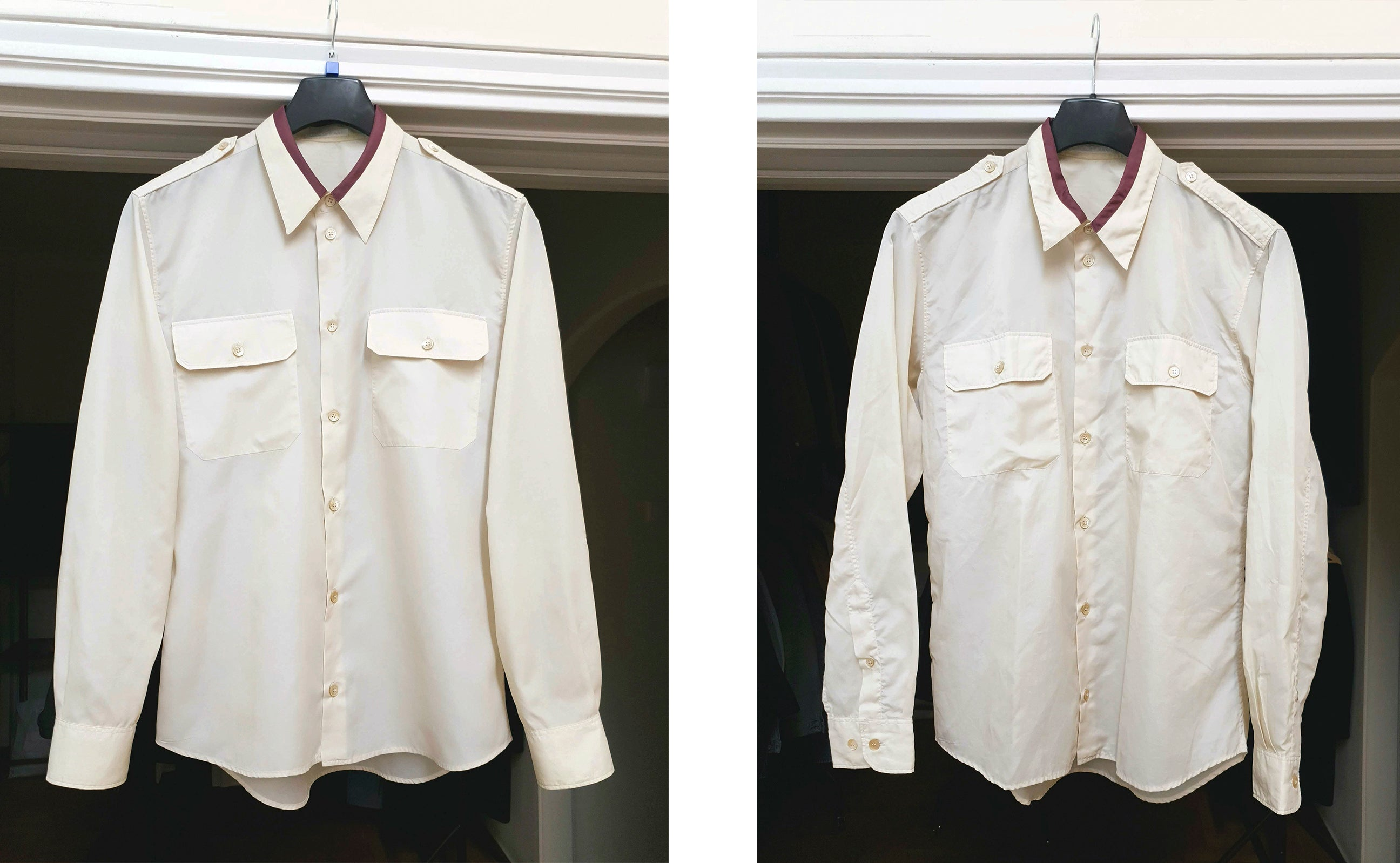 ENDYMA Restoration - Helmut Lang 1997 Officer Shirt in Fine Nylon