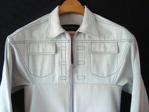 2013 Denim Jacket with Lamb Leather Bodice