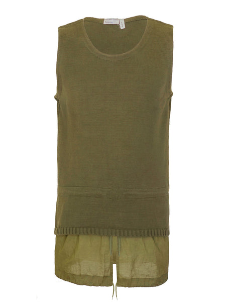 1998 Sleeveless Military Parka Sweater with Layered Hem (Mens' version)