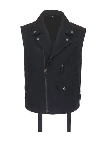 2004 Strong Cotton Biker Vest with Bondage Straps
