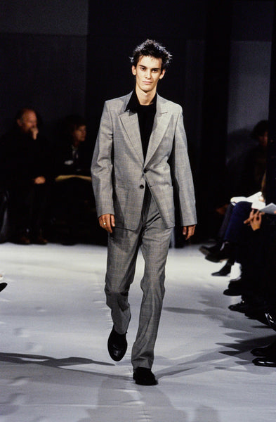 1997 Asymmetrical Tailored Shirt with Layered Panel