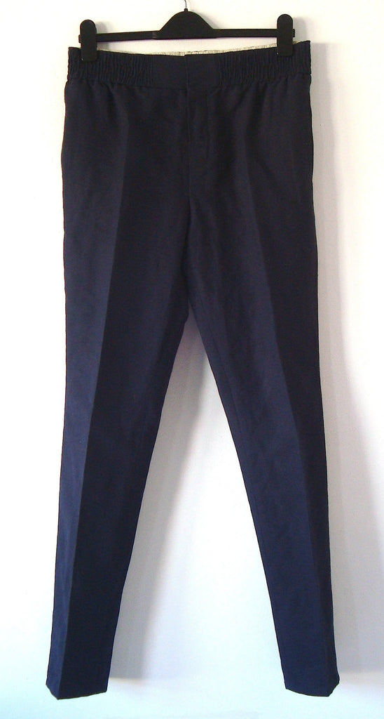 2012 Gabardine Drop-Crotch Trousers with Ruched Waist