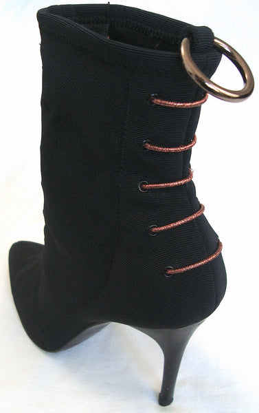 2004 Bonded Techno Mesh Laced Ankle Boots