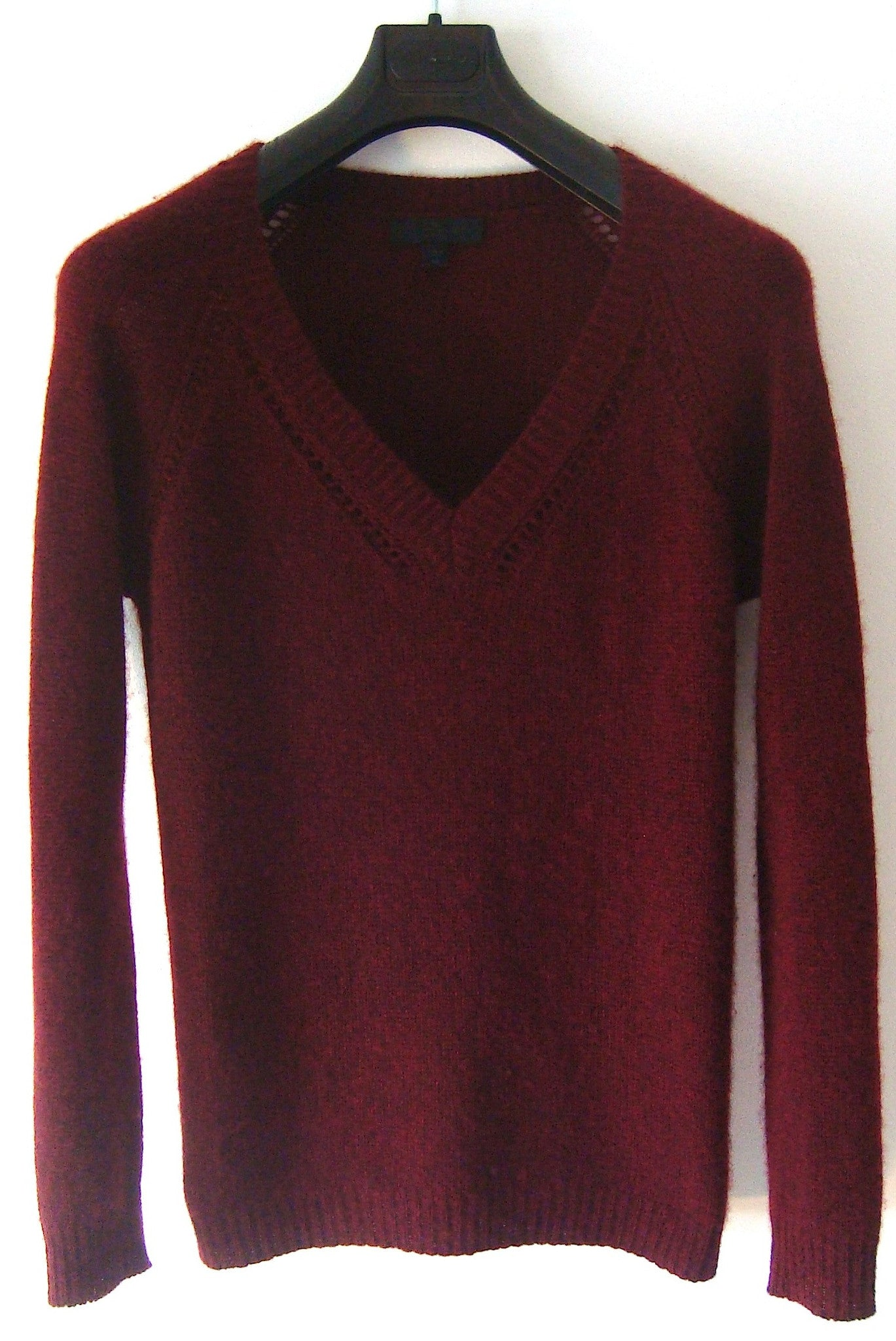 2012 Cashmere Sweater with Crochet Detailing
