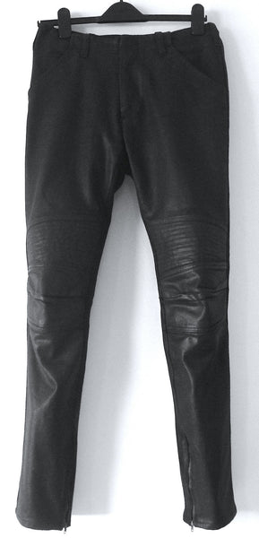1999 Heavy Waxed Denim Biker Trousers