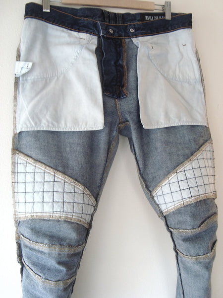 2012 Heavy Quilted Biker Jeans