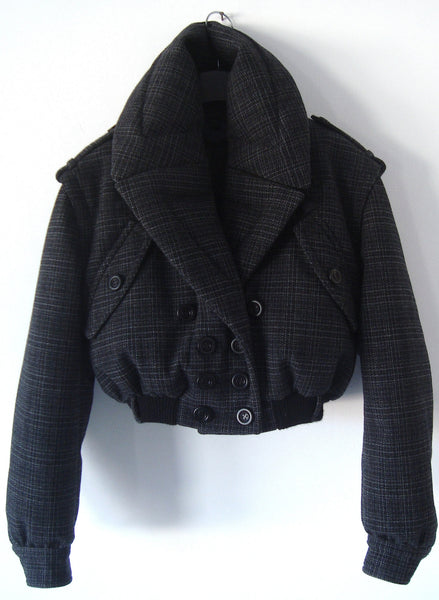 2012 Down-Filled Oversize Lapel Bomber Jacket