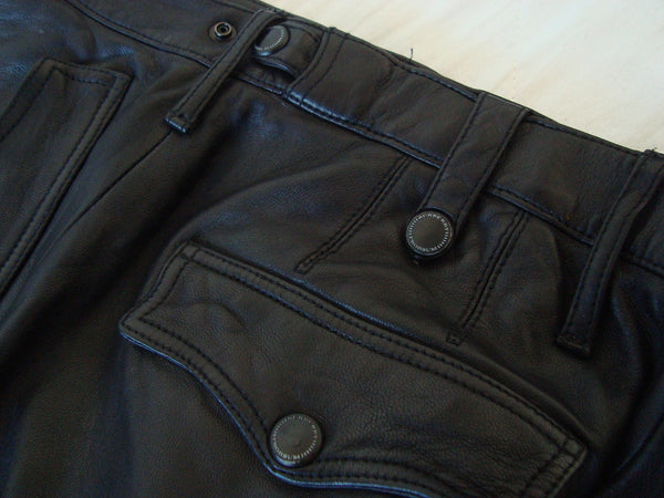 2011 Washed Leather Biker Trousers