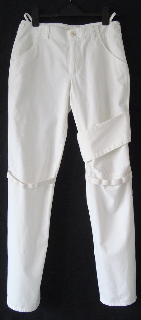 1999 Asymmetric Bondage Trousers with Elastic Straps