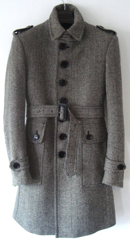 2007 Virgin Wool Single-Breasted Military Coat