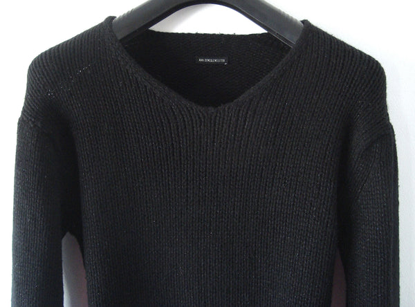 2001 Merino Wool Slim Sweater with Silver Flecks