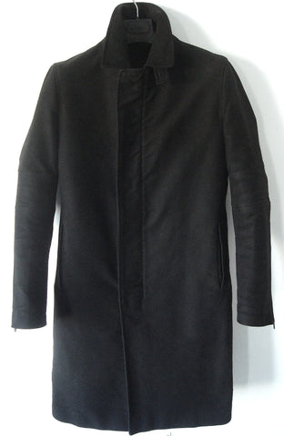 1999 Heavy Moleskin Cotton Slim Tailored Biker Coat