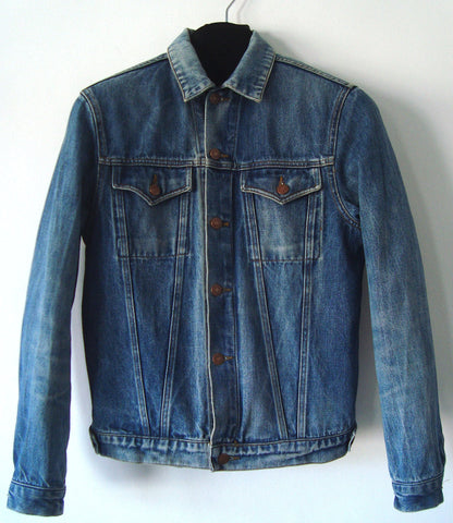 1996 Vintage Denim Classic 2-Pocket Jacket with Rubber Stripes