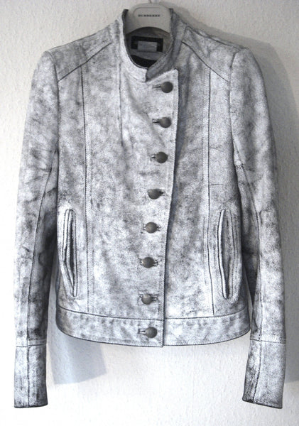 2002 Painted Leather Military Jacket