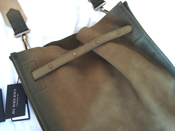 2011 Hand Dyed Calf Leather Oversized Messenger Bag