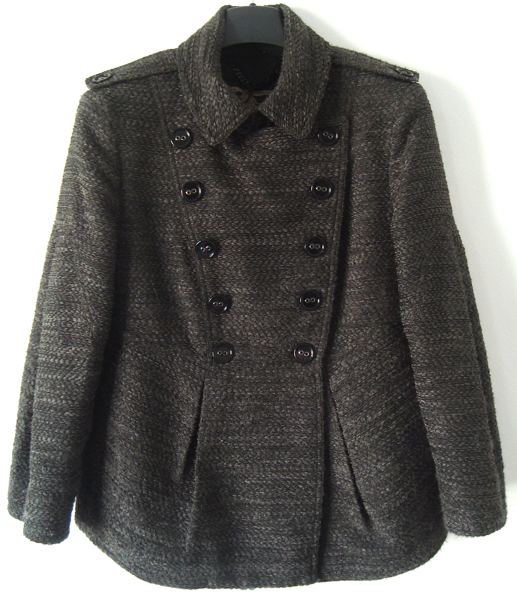 2008 Embroidered Peplum Peacoat