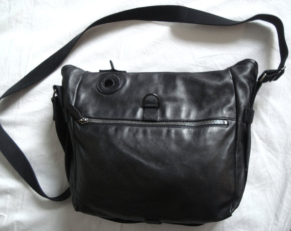 2003 Nappa Leather Gas Mask Messenger Bag