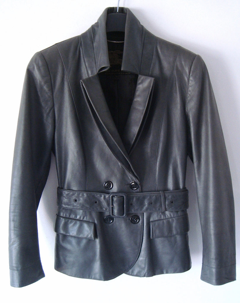 2009 Calf Leather Jacket with Architectural Lapels