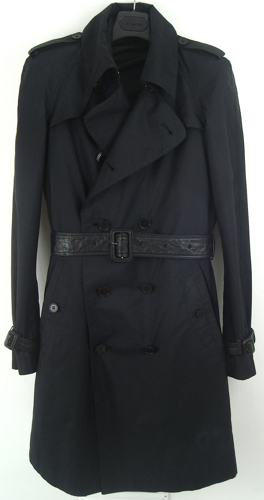 2008 Silk Gabardine Trench Coat with Leather details