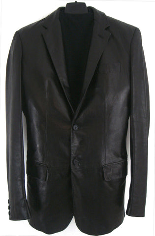 2002 Rubberised Lamb Leather Blazer Jacket