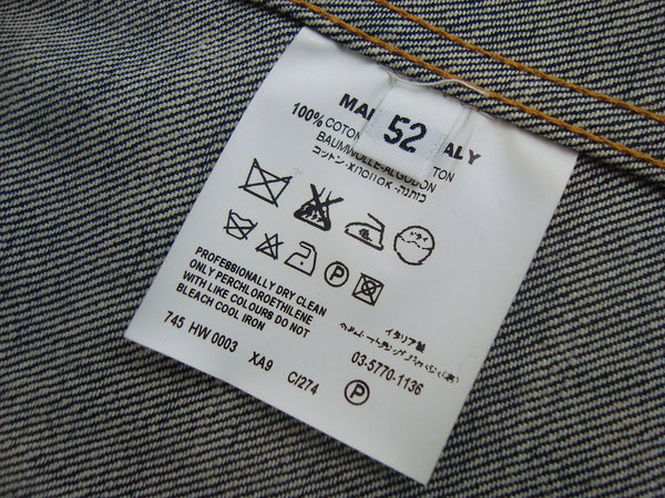 2002 Raw Denim 1-Pocket Jacket