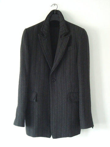 2008 'Portrait' Linen/Wool Blazer Jacket with Piping Details
