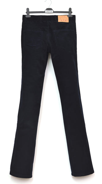 2004 Dark Navy Corduroy Elongated Bootcut Jeans