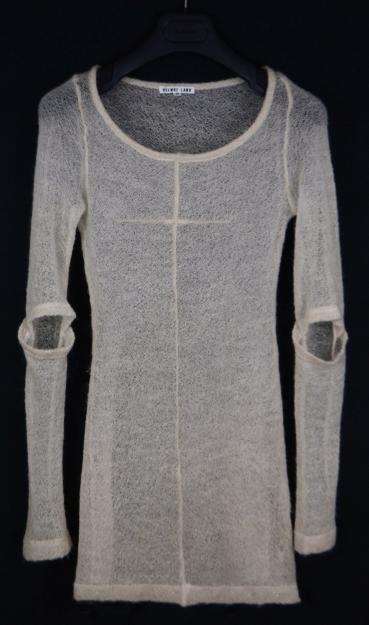 1993 Mohair Elongated Sweater with Slashed Sleeves