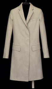 2001 Silk/Cotton Sartorial Chesterfield Coat with Bondage Strap