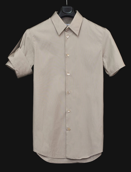 2004 Slim Short-Sleeve Shirt with Abstract Military Detail