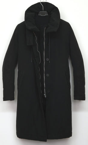 1999 Resinated Cotton Padded Biker Parka with Bondage Straps