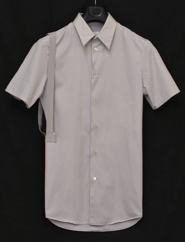 2004 Slim Short-Sleeve Shirt with Asymmetric Bondage Straps