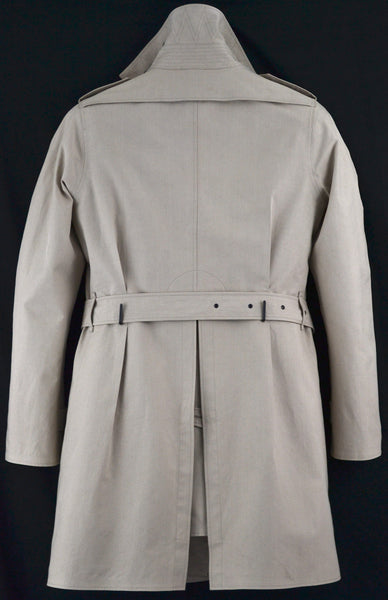 2011 Sculptural Seam-Sealed Cotton Trench Coat