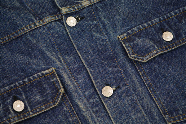 1998 Broken-In Raw Denim Lower 2-Pocket Jacket